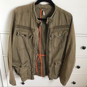 Free People Green/Grey Jacket!